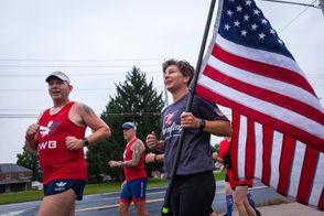 "Jen Yuengling was part of the ""Team Red, White & Blue"" in Allentown to support U.S. veterans."