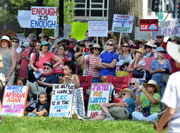 Western Massachusetts activists protest Trump administration's 'zero tolerance' immigration policy at Springfield rally