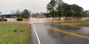 Heavy rains have brought flooding to parts of North Alabama.