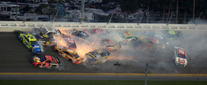 "DAYTONA BEACH, FL – Three multi-car crashes narrowed the field in the final laps of Sunday's Daytona 500. And Michiganders were wrapped up in all three. But both Byron-native Erik Jones and Rochester Hills-native Brad Keselowski wrangled their damaged cars to finish on the lead lap. And the 22-year-old Jones finished third, 0.3 seconds behind winner Denny Hamlin at the checkered flag. ""I'm going to have a terrible hangover tomorrow, but I'm going to enjoy it the rest of my life,"" Hamlin said after the win. It marks Hamlin's second Daytona 500 victory, and comes after going Hamlin went winless for the first full season in his career in 2018.  No Michigan-born driver has ever won the Daytona 500. Here's a look at how the final laps unfolded – including video of the 21-car wreck and the race to the finish."