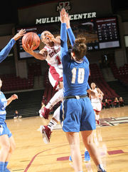 UMass women's basketball downs Central Connecticut for coach Tory Verdi's 100th career win (photos)