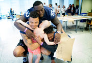 Penn State football continues its June 'tradition' with trip to visit Penn State Hershey Children's Hospital