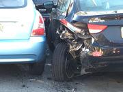 Sleeping driver slams into cars in Easton, cops say (PHOTOS)