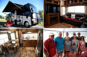 Some might say Alabama football's most die-hard fans are those who travel to and from Crimson Tide games in their beloved RVs. Early in the 2018 season, we caught up with a few families who park their motor-homes at Coaches Corner RV Park in Tuscaloosa. The Brakefields, Harwells, Keeners and Thigpens invited to take a look inside their beautiful RVs they drive from various parts of the Southeast to wherever Bama plans to dominate. See what RV-living looks like in 2018 in the photos below.