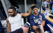 Behind the scenes at Penn State's Fiesta Bowl field and locker room celebration