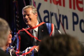 Scenes from Gov. Charlie Baker's election night party at the Hynes Convention Center in Boston.