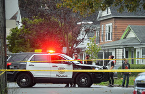 A 12-year-old boy was killed and a woman was injured in a shooting Wednesday night on John Street in Syracuse.