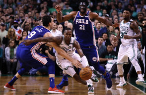 The Celtics finished the regular season 3-1 against the Sixers. The Celtics rallied from a 20-point deficit to beat Philly in London on Jan. 11. Boston's lone loss came a week later on Jan. 19, and the Sixers got better and better throughout the season, which made it a little unclear what would happen in the Eastern Conference semifinals. The Celtics jumped on top quickly, winning the first two games in Boston before claiming the now-infamous confetti game in overtime. Jaylen Brown said he didn't want to play with his food, but the Sixers took Game 4 and had chances to claim Game 5 as well, which would have caused some sweaty palms in Boston. But the Celtics executed down the stretch and sent Philadelphia reeling into the offseason.