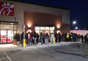 Chick-fil-A fans line up ahead of grand opening in Rochester area (photos)