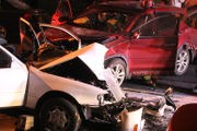1 driver seriously injured in 2-vehicle crash (PHOTOS)