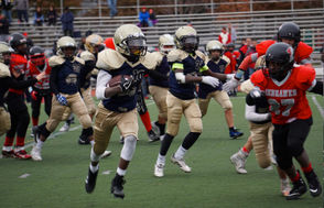 The Plainsmen Reggie McClure  runs with the ball against Parisippany. He earned MVP honors.