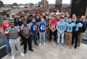 The All-CNY large schools first team - taken Sunday, Dec. 1 on the roof of Advance Media | New York in downtown Syracuse. Missing from the photo are Shaheed Beal of Auburn and Shy'rel Broadwater of Cicero-North Syracuse.