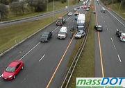 Tractor-trailer crash in Lee slows eastbound traffic on MassPike