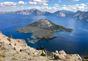 Crater Lake, seen from the many viewpoints along East and West Rim Drive in Oregon's beautiful national park.