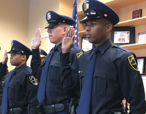 Three new Birmingham police officers were sworn in on Friday, Sept. 21, 2018.