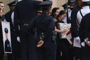 Funeral for Detroit Police Officer Fadi Shukur killed in hit-and-run