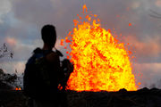 Hawaii volcano produces methane and 'eerie' blue flames (photos)