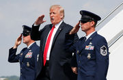 Trump is back in New Jersey for another weekend stay