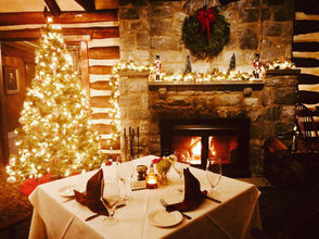 Looking for a little holiday cheer? These restaurants play up the decor from whimsical to subtle wisps of greenery.