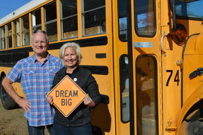 The nonprofit Vehicles for Changes is converting old school buses into mobile shelters for Oregon families.