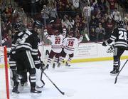 UMass hockey's late goal gives No. 9 Minutemen, 3-2 win over No. 4 Providence