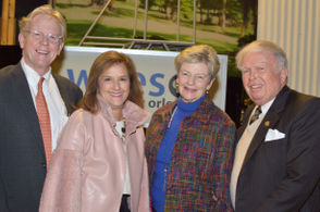 Left to right, WYES board chair Cleland Powell, Claudia Powell, and WYES benefactors Paulette and Frank Stewart.