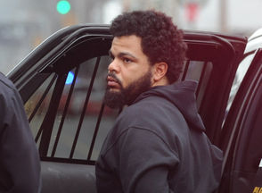 Phillipsburg police take three men --including Quazeir Z. Featherson -- into custody, Dec. 14, 2018, in the 500 block of South Main Street in connection to an armed robbery try in the 200 block of Mercer Street. A handgun was recovered under a camper. (Tim Wynkoop | For lehighvalleylive.com)