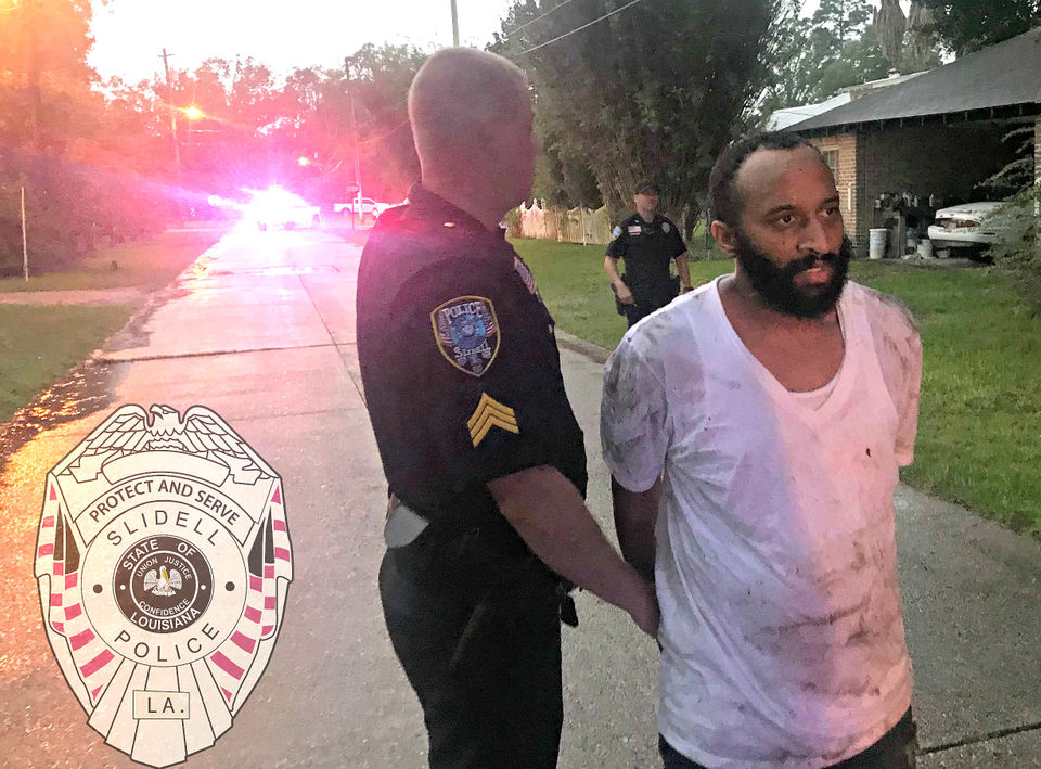 Ronald Johnson, 31, was arrested Monday night (July 16, 2018) after he allegedly crashed a stolen pickup in Slidell.