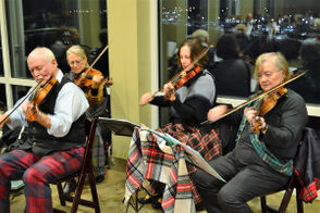 The Strathspey and Reel Society provided music during the evening.