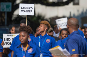 New Orleans area high school students march to City Hall as they express their frustrations with gun violence.