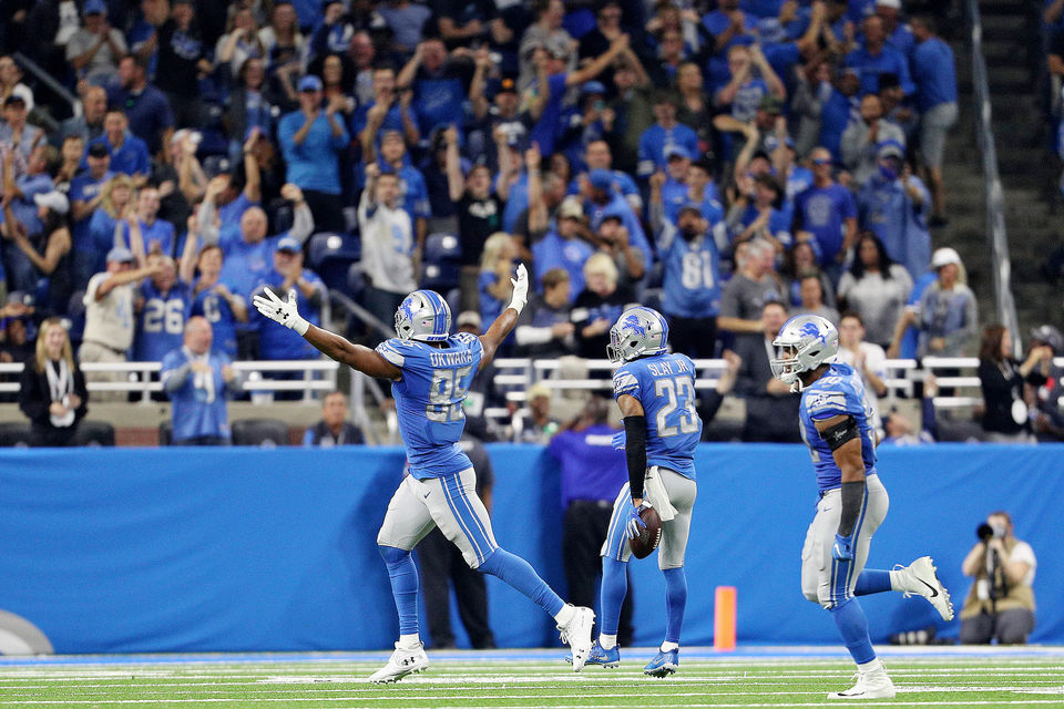 Best images from the Detroit Lions' thrilling win over the Los Angeles Chargers, 13-10