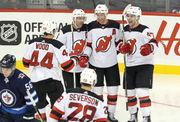 Devils' lines, pairings vs. Jets (11/11/18) | Cory Schneider in; Mirco Mueller sits