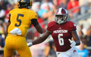 MUSKEGON -- Last week, we asked readers to vote for the offensive MVP for the Muskegon area in the 2018 high school football season. Reeths-Puffer wide receiver Carter Fulton was the winner of that fan poll. This week, it's time to focus on some of the top defensive players. Who deserves the distinction as the area's defensive MVP? This poll includes 14 players from the area who were instrumental to their respective teams' success on the defensive side of the ball. Read the bios for each of those players below, arranged alphabetically, and vote in the poll at the bottom. You may vote as many times as you'd like. The poll will remain open until noon Friday, Nov. 16. Reminder: This poll is designed to allow readers to chime in on who they think is the area's most important defensive player for his team. It has no bearing on postseason awards, such as all-area, Dream Team or all-state.