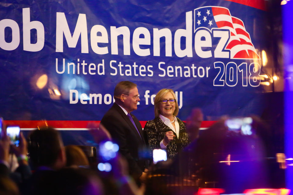 Hillary Clinton stumps for Menendez at Jersey City fundraiser