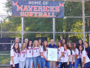 Moore Catholic softball team is honored by City Councilman Steven Matteo