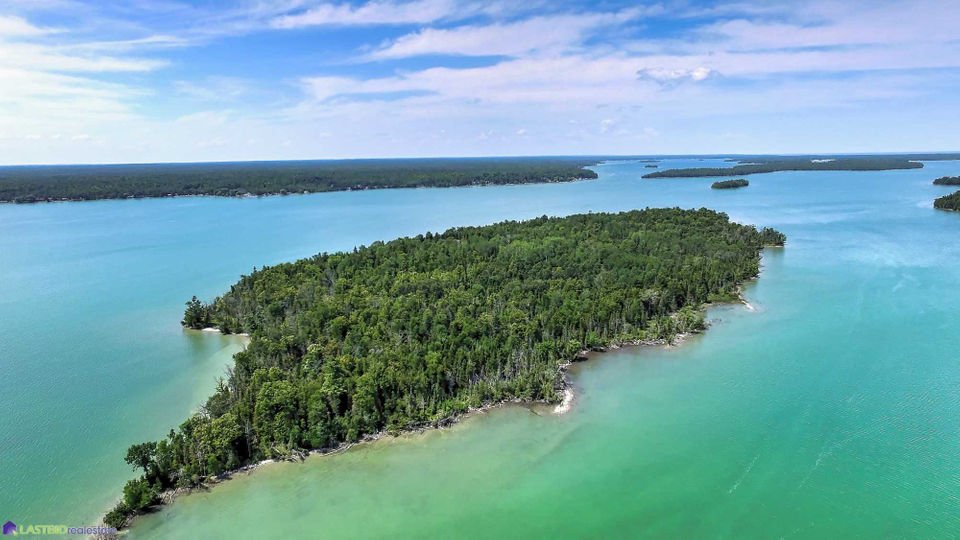 private up north island and lodge set for auction starting at 250k