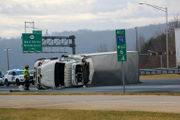 Interstate 78 truck rollover slows westbound traffic (PHOTOS)