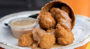 What you should eat instead: Waffle Chicken Bites from Deep South Company Personally, I believe the chicken tender experience is at its best when it incorporates some sweetness, ideally with some honey mustard sauce (though BBQ sauce will do in a pinch). The Waffle Chicken Bites take this to another level by coating the tenders themselves in waffle batter, giving them a nice mellow, sweet crunch. Those are complemented wonderfully by the maple mustard dipping sauce, which is a brilliant honey mustard spinoff. Plus, the whole thing comes in a waffle cone. You can eat it if you want. But at the very least it's a fun chicken goblet to walk around with.