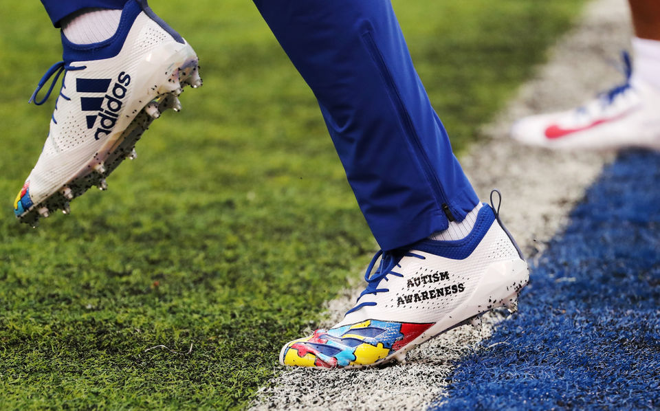 What did these Giants wear for 'My Cause, My Cleats' vs