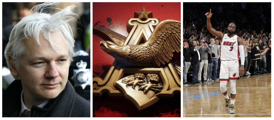 WikiLeaks founder arrested, Anheuser-Busch sued, Wade gets triple-double in final game & more: What's trending today