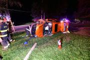 2 hurt in crash that shears utility pole in Warren County