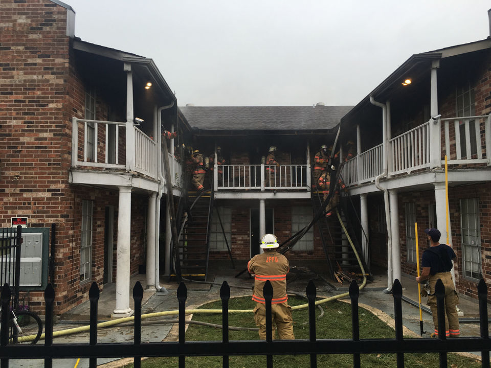 A fire was reported at an apartment complex at 2508 Pasadena Avenue in Metairie on Tuesday, July 17, 2018.