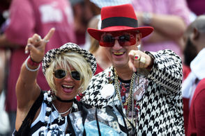 Alabama fans never disappoint with their gameday attire. The same was true for Texas A&M week in Tuscaloosa on Saturday. Check out some of our favorite looks we saw on campus and in Bryant-Denny Stadium below.