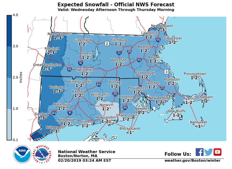 5 weather maps that explain the snowy, wintry mix heading to Massachusetts Wednesday night