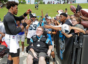 Watch Cam Newton thrill fans at Carolina Panthers' training camp