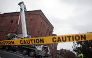 Roof partially collapses during work at South Side Bethlehem building