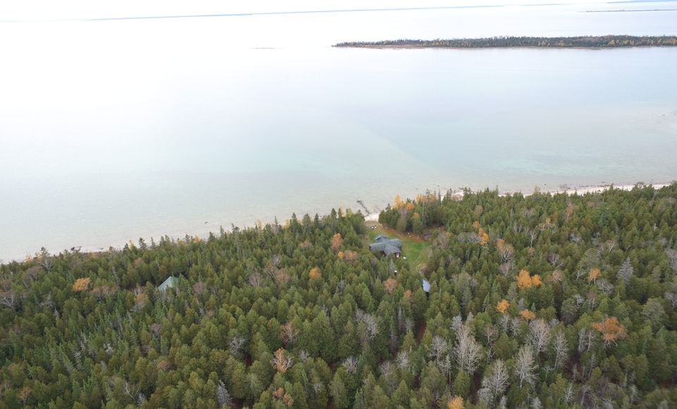 299 acres, off-the-grid cabin for sale on this U P  island, $1 6M