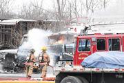 Auburn tractor trailer fires under investigation
