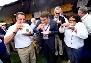 Sausage, politics and sky rides: Gov. Cuomo visits the NYS Fair