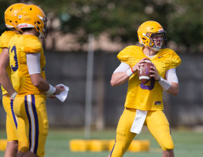 LSU hit the practice field with four quarterbacks on Wednesday afternoon (Aug. 15) which was expected after the Tigers lost Justin McMillan and Lowell Narcisse to transfers in the last 24 hours.  Narcisse announced his decision on Tuesday night while McMillan announced his move on Wednesday morning.  That left just two scholarship quarterbacks at practice in graduate transfer Joe Burrow and sophomore Myles Brennan.  The departure of McMillan and Narcisse did mean more meaningful reps for projected third-string quarterback Andre Sale on Wednesday.  Sale, a Baton Rouge native who played for Tennessee Tech last season on scholarship, transferred to LSU as a walk-on in January.  Sale was originally supposed to be ineligible for the 2019 season as a transfer, but he was granted a waiver by the NCAA for immediate eligibility, according to a source.  Sale was the third quarterback up in the passing drills during practice and spent his time with Burrow and Brennan while walk-on quarterback Jordan Loving was working with the wide receivers.